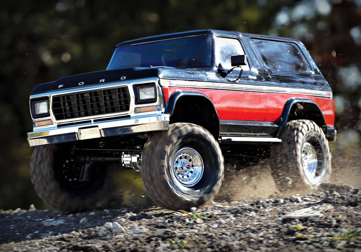 Traxxas Trx 4 Bronco Scale And Trail Crawler 4x4 Rc Truck 1970 Ford Lifted In Action