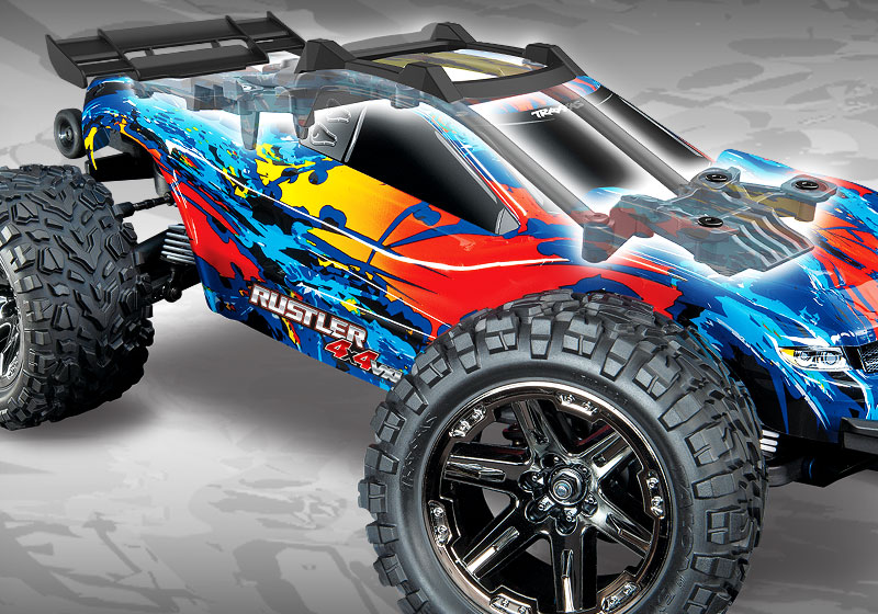 Rustler 4X4 VXL uses a clipless body latching system