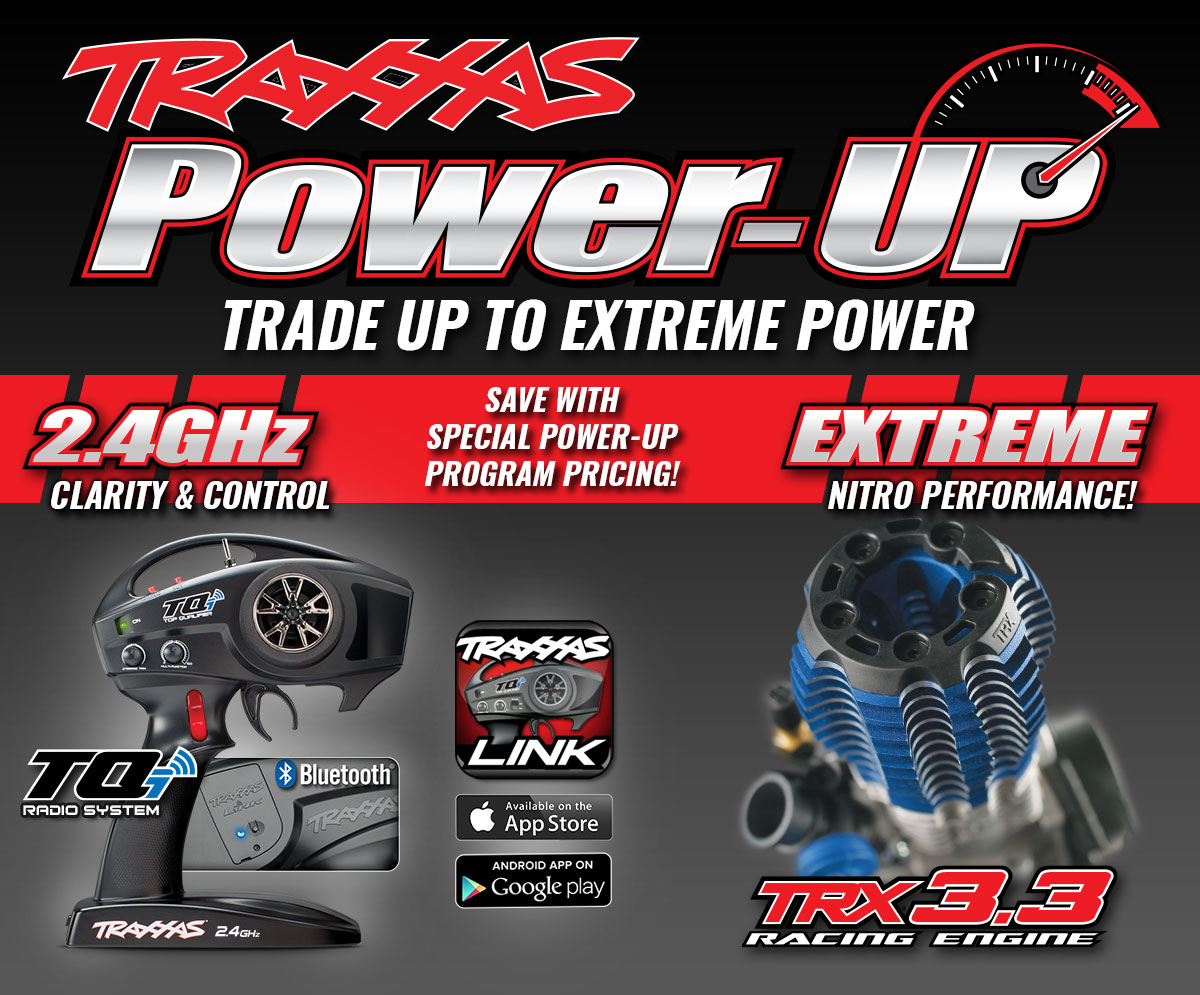 Power-Up with TRX 3.3 Racing Engine - Trade up to Extreme Power and Save with Special Power-Up Program Pricing!