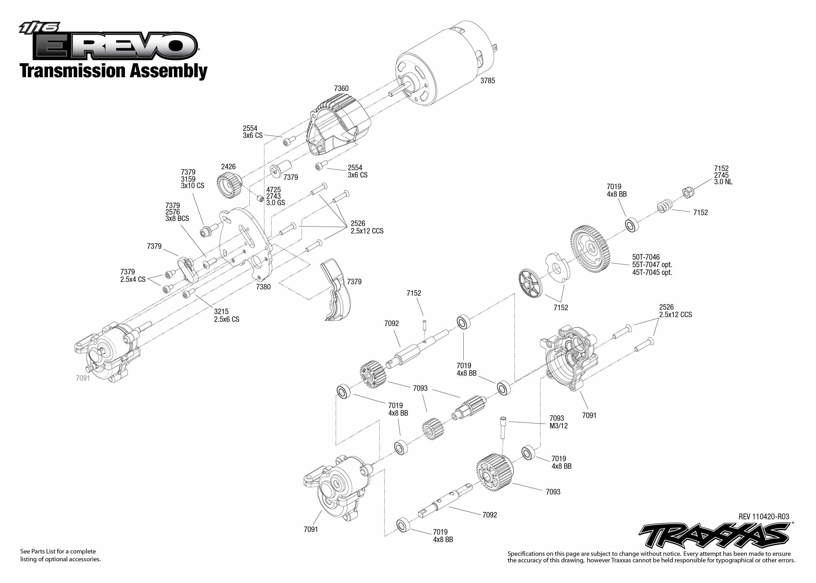 traxxas jato wiring diagram traxxas revo 3 3 wiring automatic transmission exploded diagram Engine Exploded View