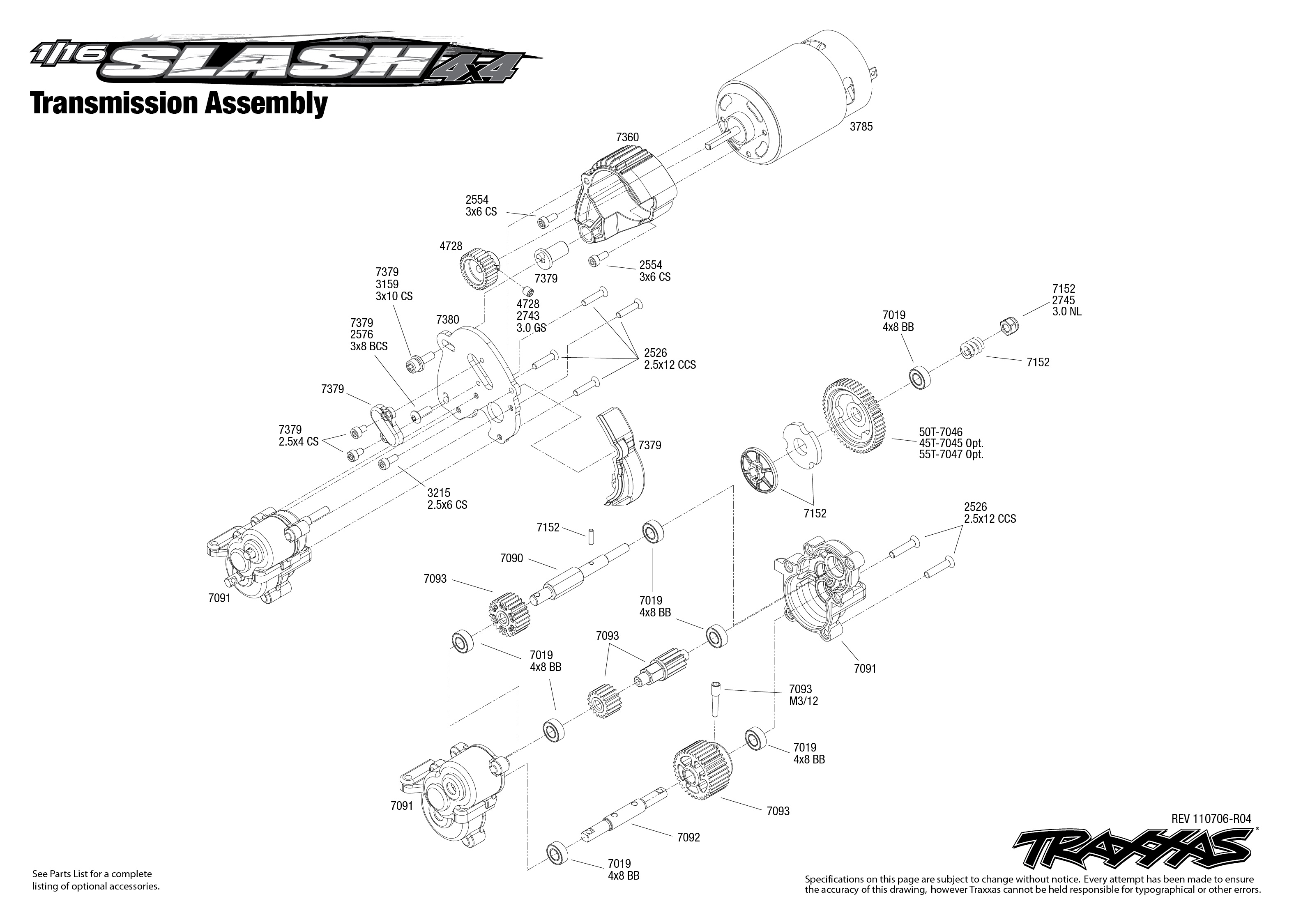 Traxxas rustler parts diagram image collections diagram design ideas traxxas slash exploded diagram free download wiring diagram 7005 transmission exploded view 1 16 slash 4x4 pooptronica Images