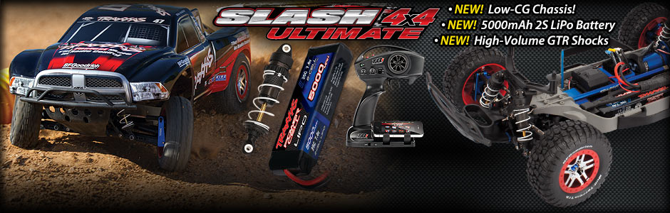 Slash 4x4 Ultimate New Low Cg Chassis Lipo Battery