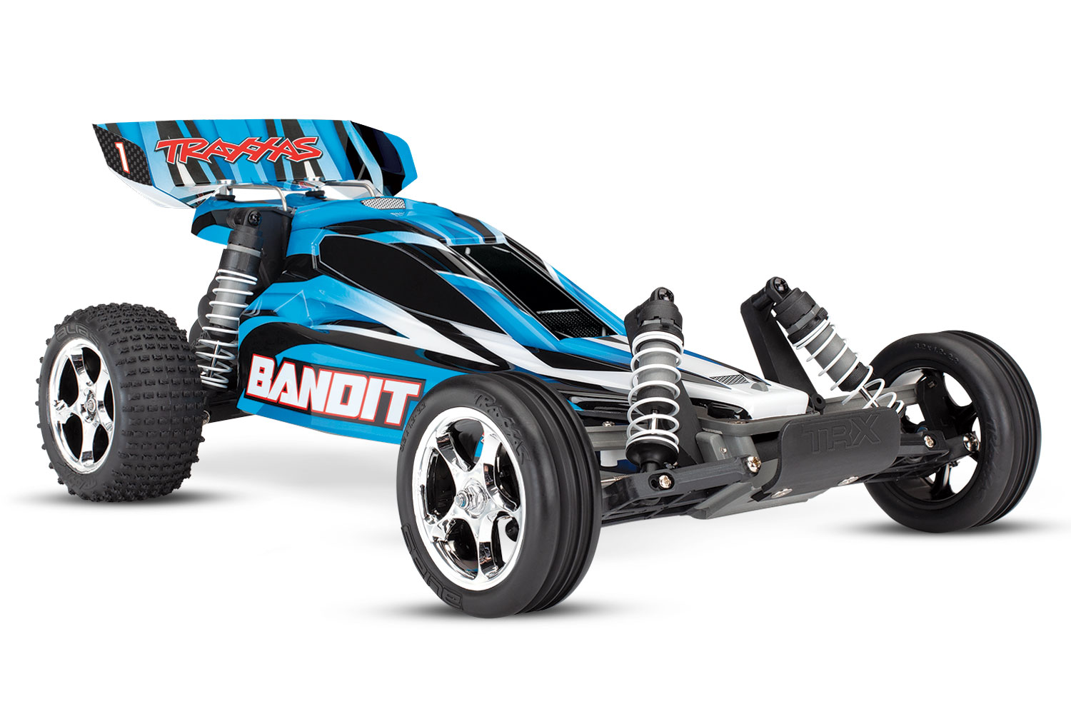 Traxxas Bandit 2WD 1/10 RTR TQ Blue – With battery/Charger  #24054-1
