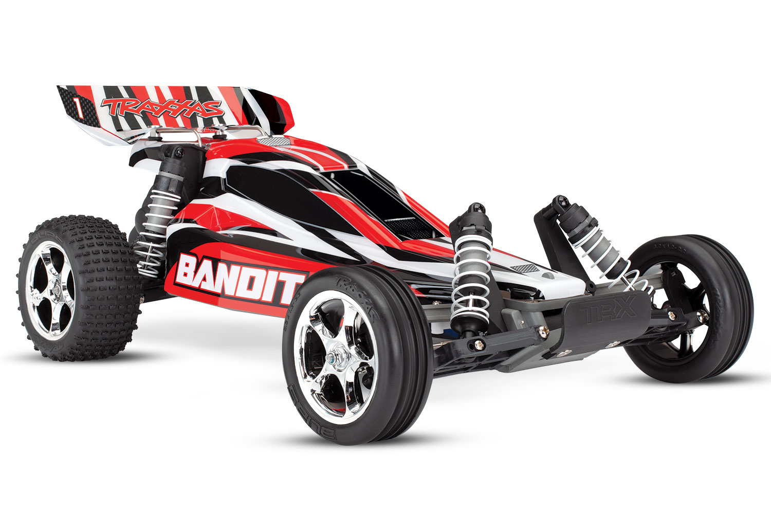 Traxxas Bandit 2WD 1/10 RTR TQ – NO Battery / Charger 24054-4 (RED)
