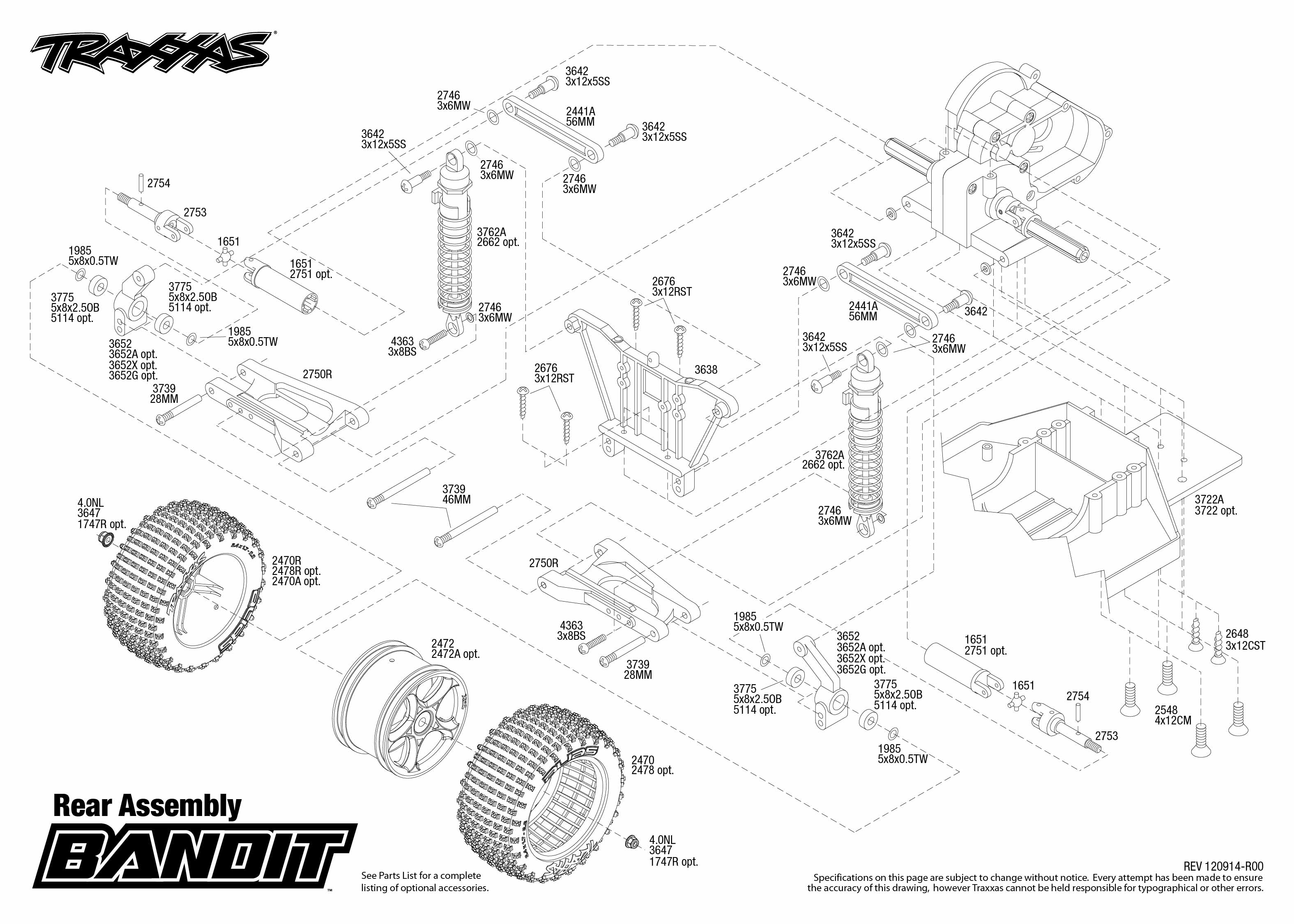 Astonishing 2405 Rear Exploded View Bandit Traxxas Wiring Database Ittabxeroyuccorg