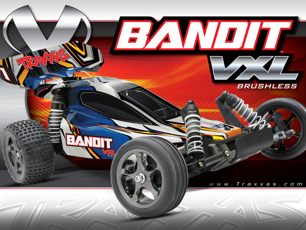 Traxxas Bandit VXL Brushless Buggy RTR w/Waterproof ESC, 2.4Ghz TQi Radio, Lipo Battery and Charger #2407L