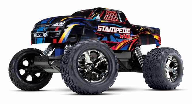 stampede vxl 1 10 scale monster truck with tqi traxxas link enabled