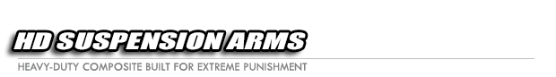 Suspension arms, red, front, heavy duty (2) Logo