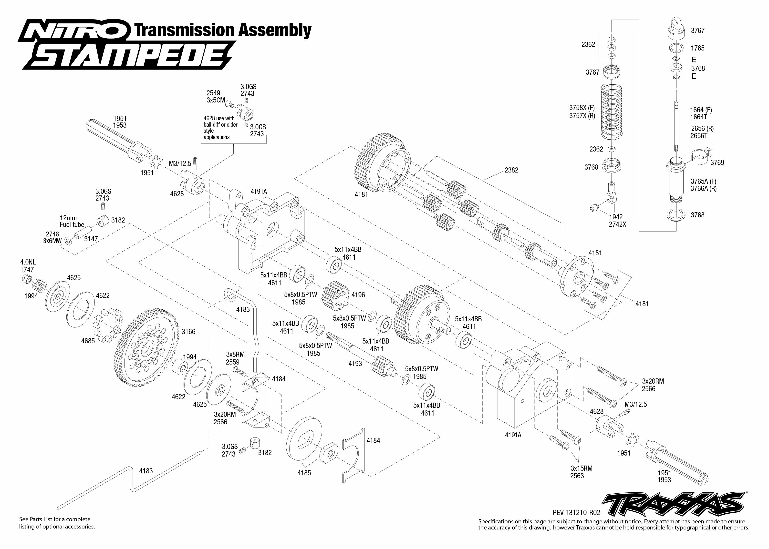 nitro stampede 41094 transmission assembly traxxas rh traxxas com traxxas stampede 4x4 parts diagram traxxas stampede 4x4 parts diagram