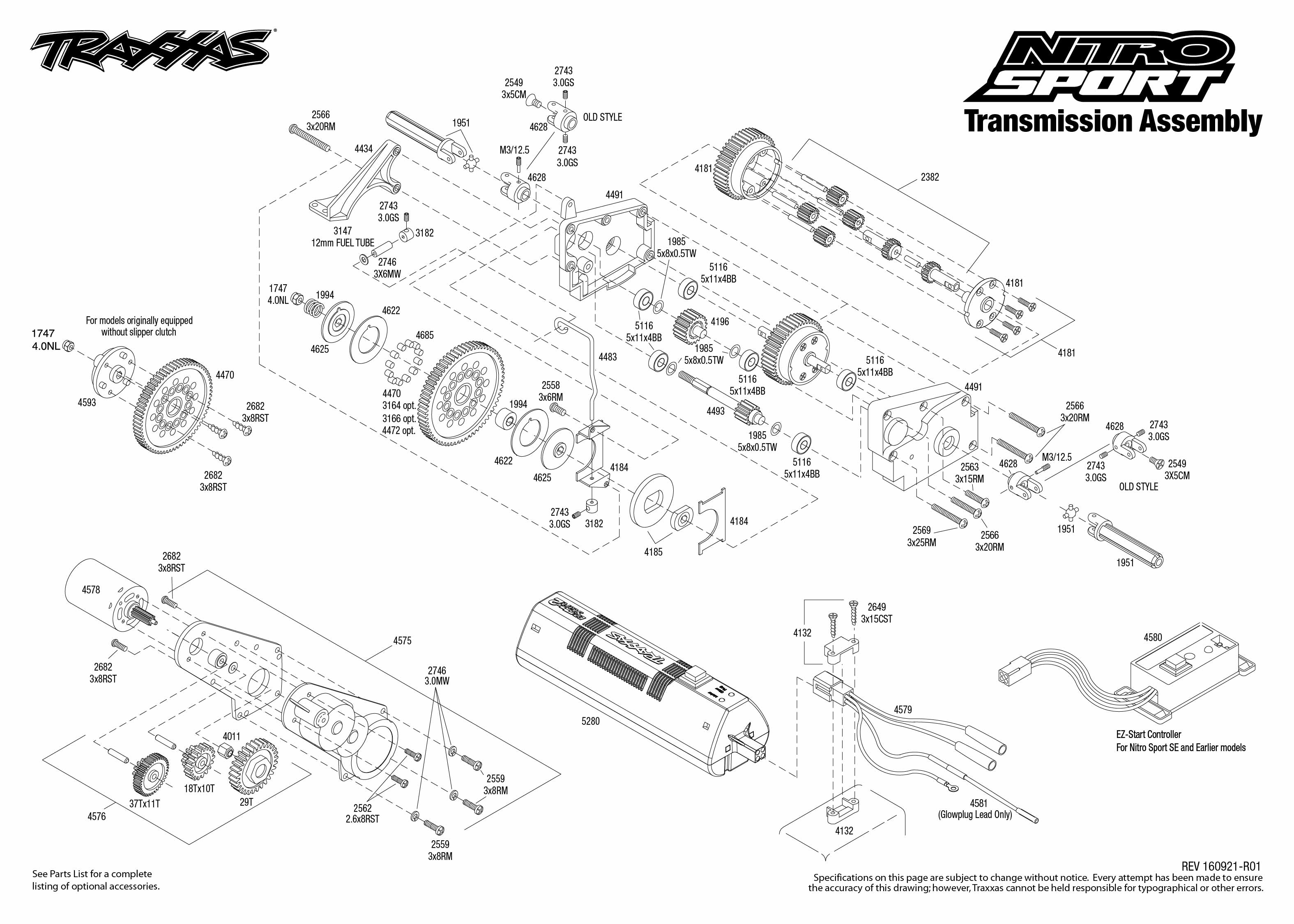 Traxxas Nitro Rustler Exploded Diagram Great Installation Of Parts For Sport 45104 1 Transmission Assembly View Rh Com