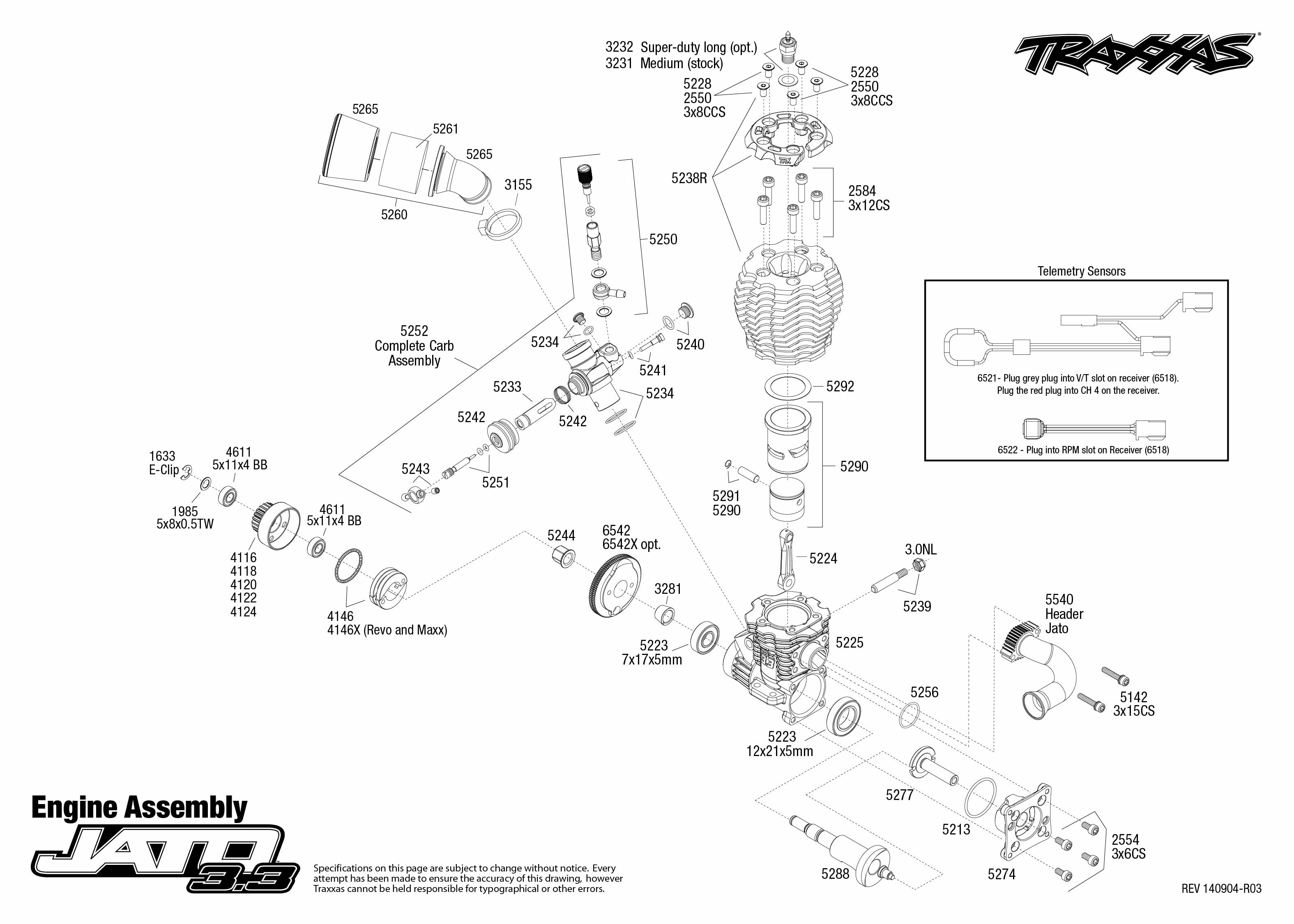 [SCHEMATICS_48IS]  Jato 3.3 (5507) Engine Assembly | Exploded View | Traxxas | Traxxas 2 5 Engine Diagram |  | Traxxas