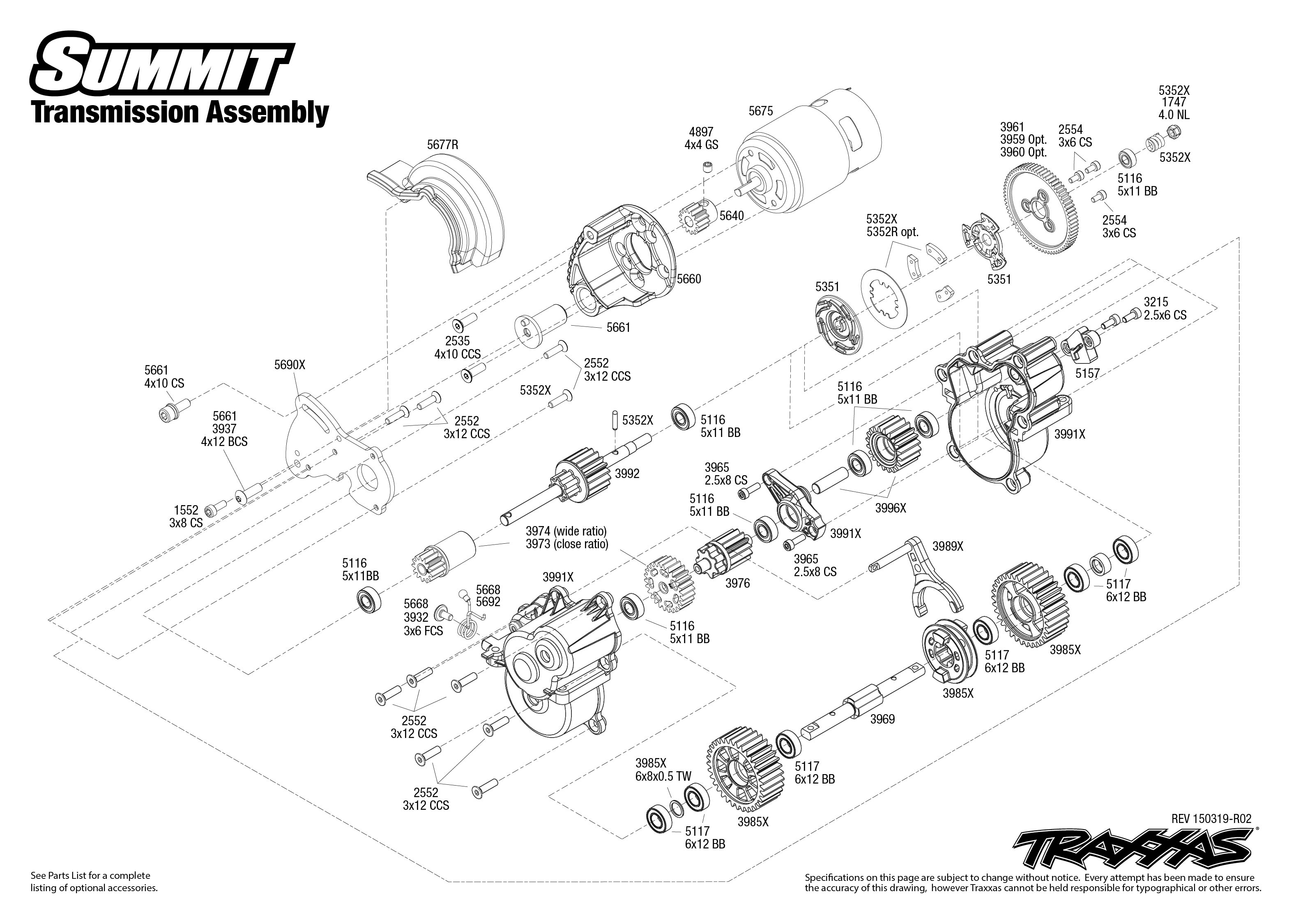 Summit  56076  Transmission Assembly
