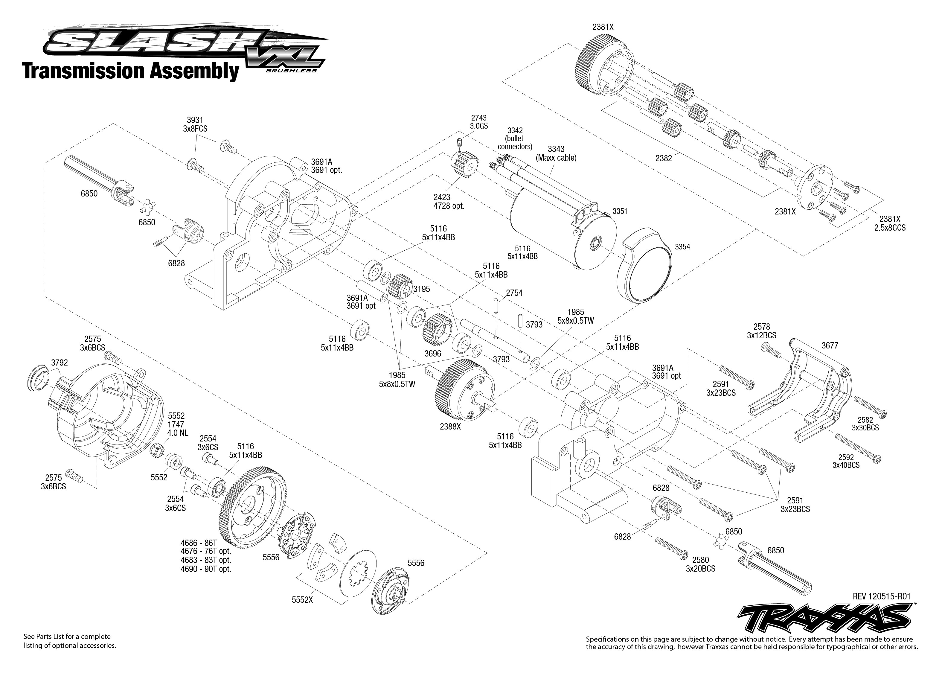 5807 Transmission Exploded View  Slash Vxl  With Tqi 2