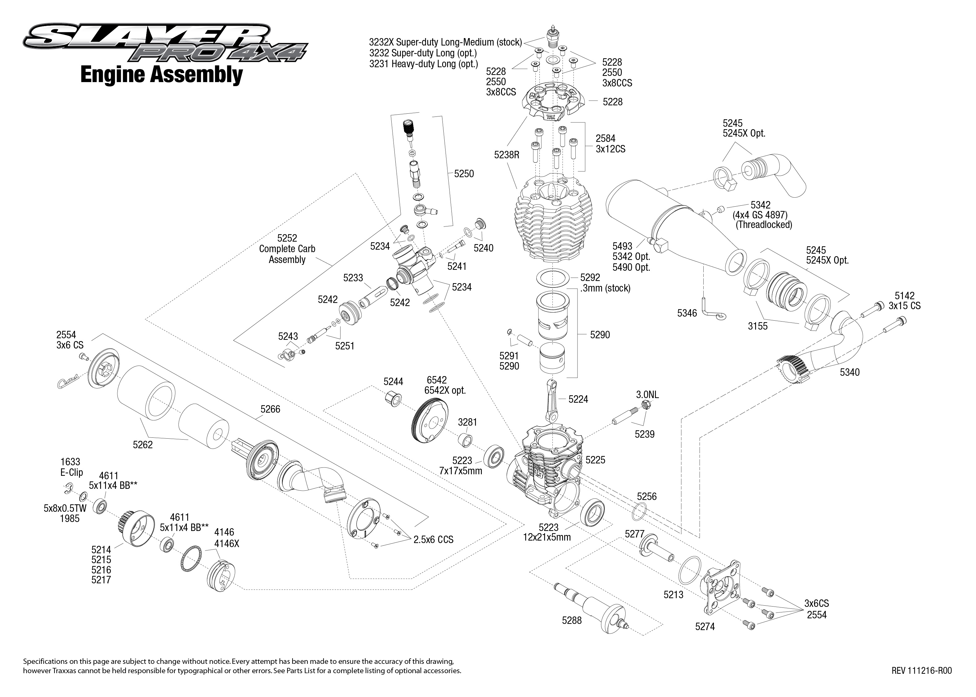 [DIAGRAM_4FR]  Slayer Pro 4x4 (5907) Engine Assembly | Exploded View | Traxxas | Traxxas 2 5 Engine Diagram |  | Traxxas