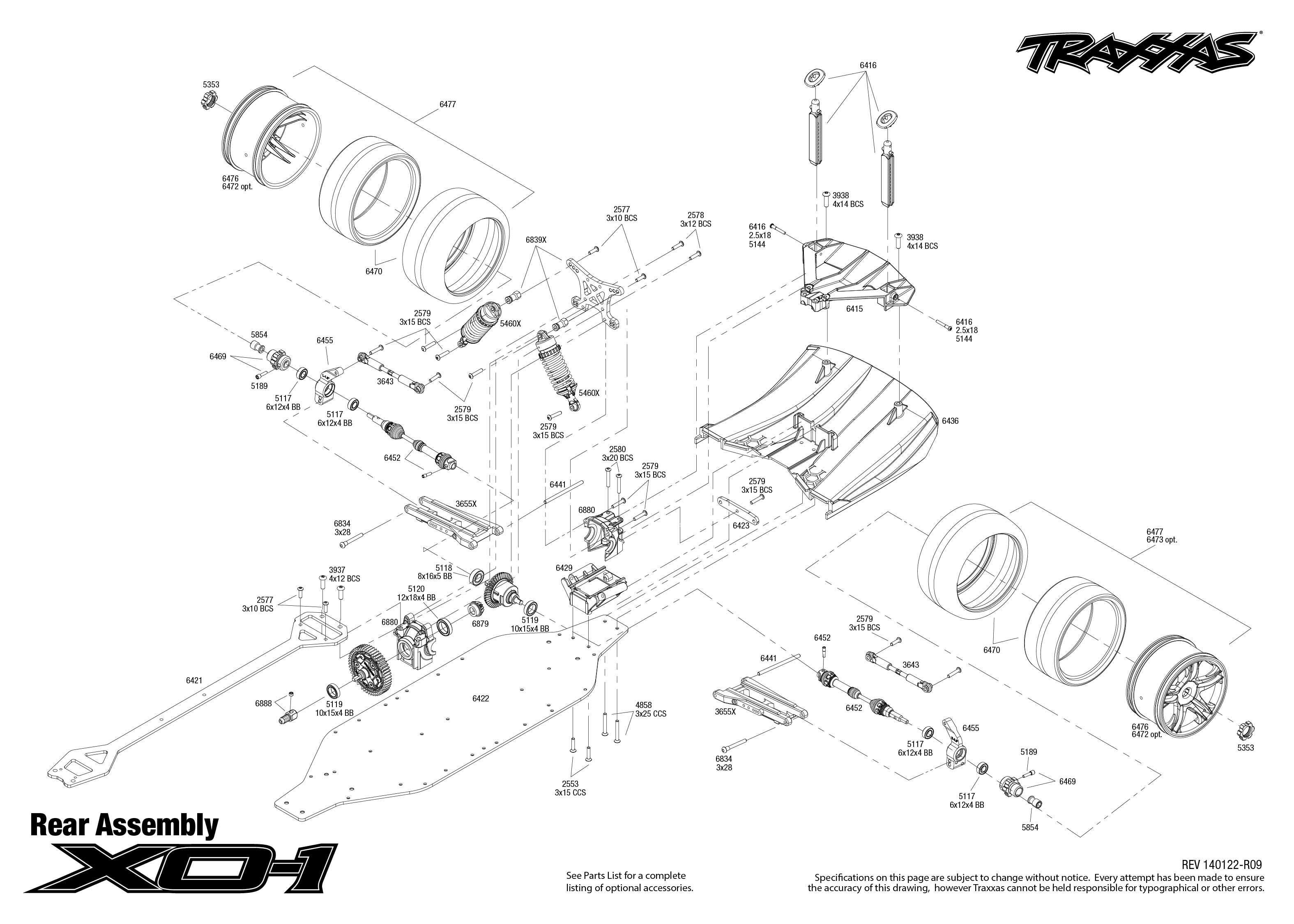 6407 Rear Exploded Views XO 1 on nissan suspension diagram