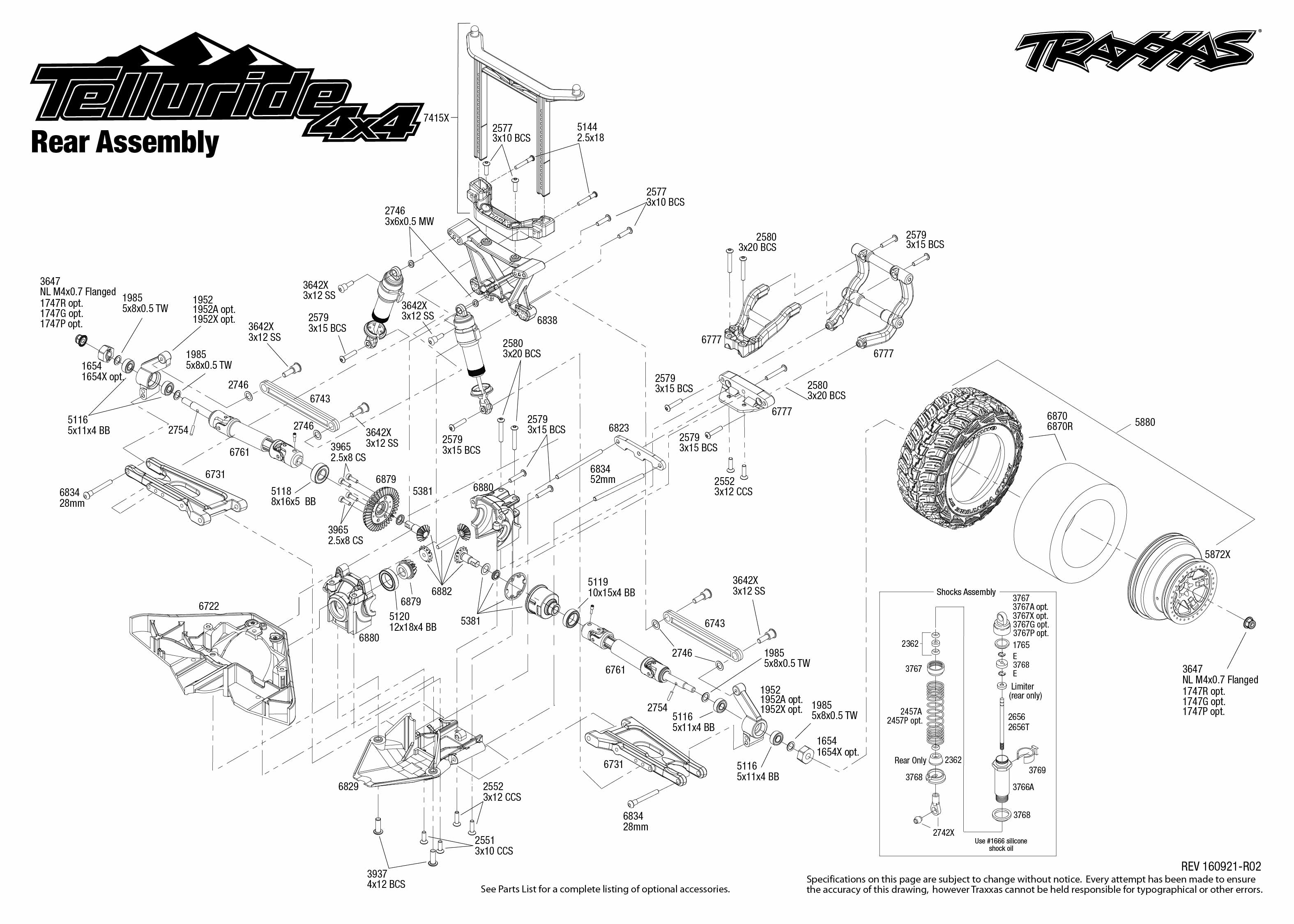 Telluride 4x4 67044 1 rear assembly exploded view traxxas view pdf ccuart Images