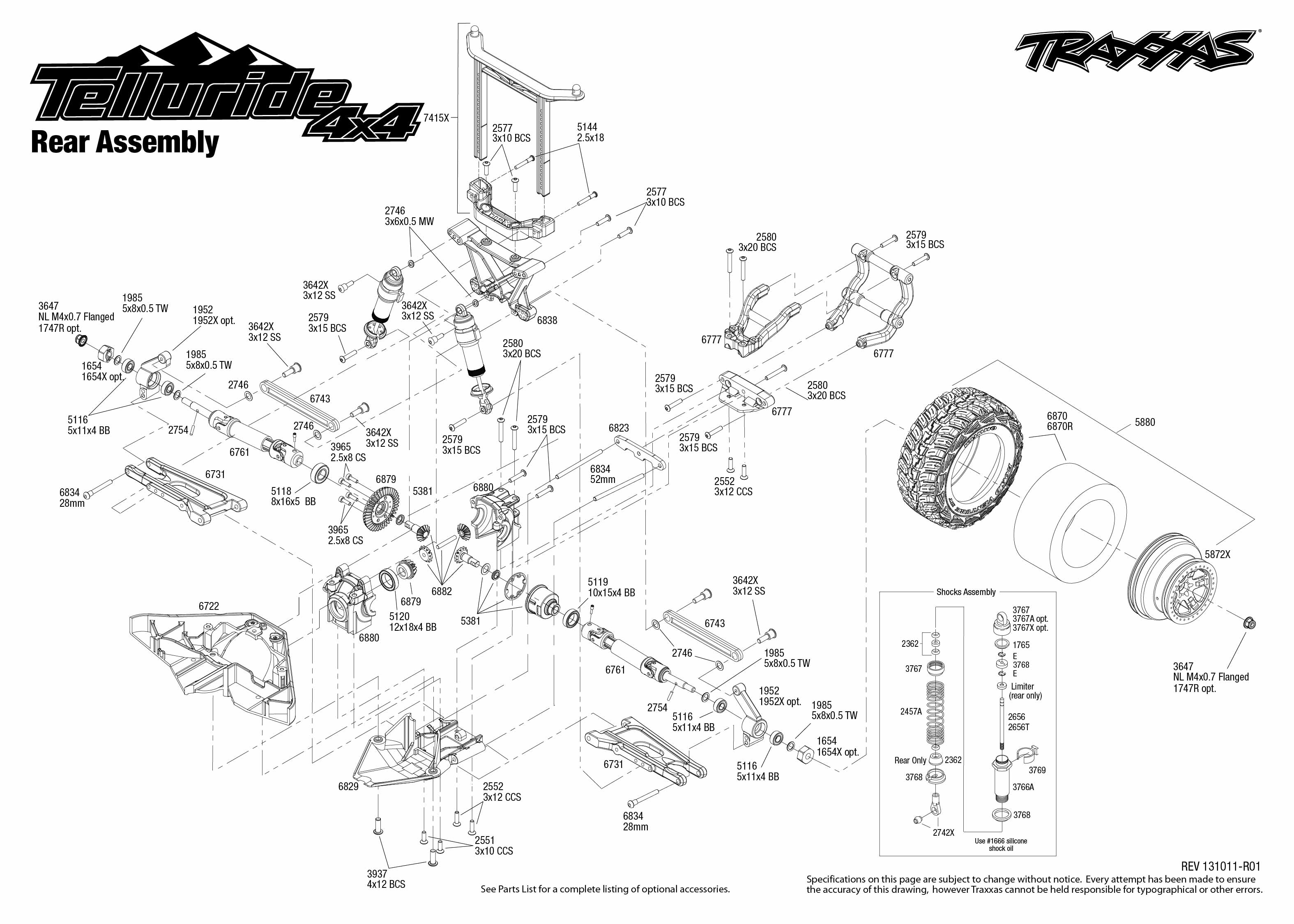 telluride 4x4 67044 rear assembly traxxas rh traxxas com traxxas summit parts diagram traxxas summit parts diagram