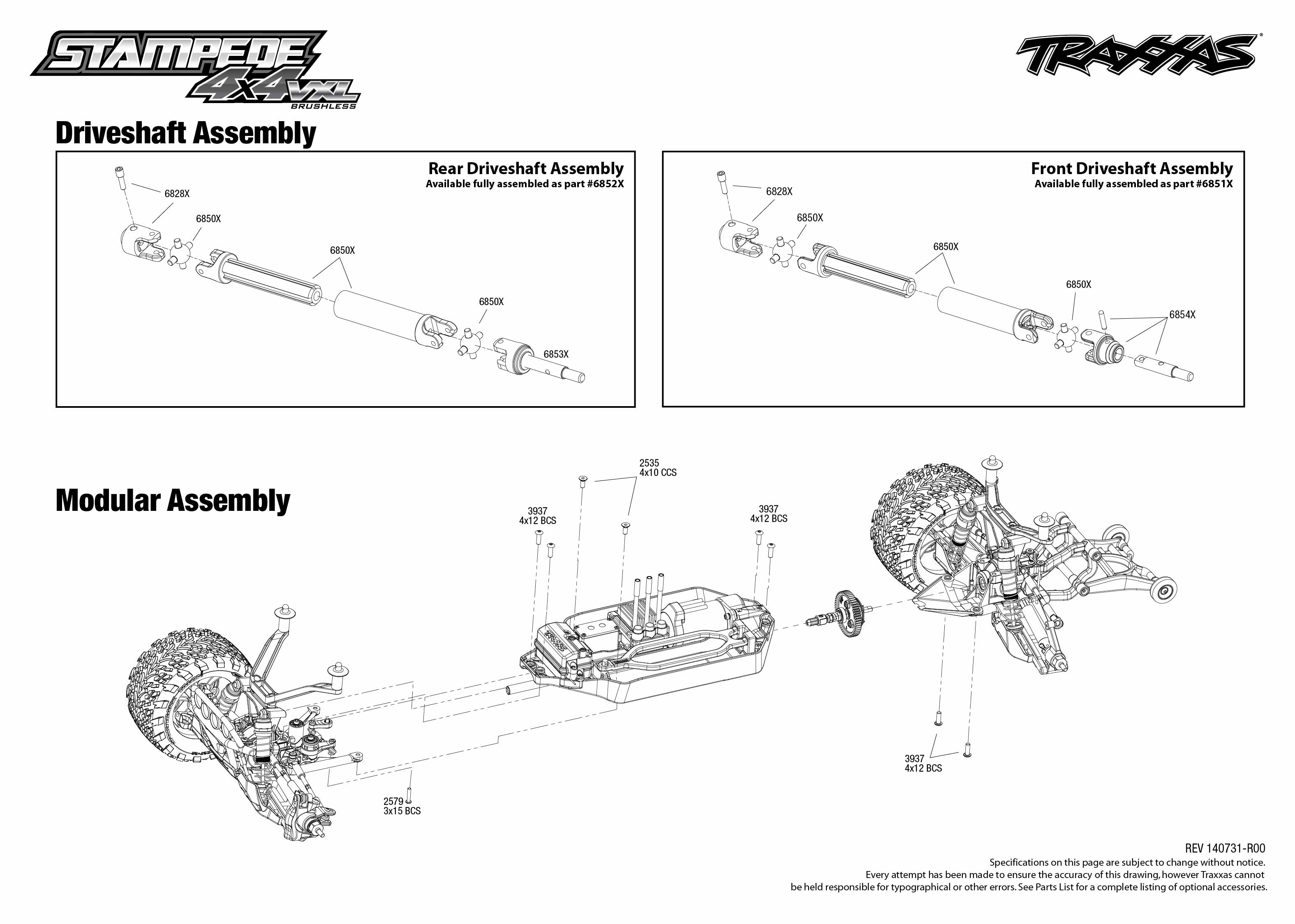 Traxxas Stampede Parts Diagram Rear Best Electrical Circuit Wiring Slash 4x4 Lzk Gallery Likewise Vxl 67086 1 Driveshaft Assembly Exploded Front 3604