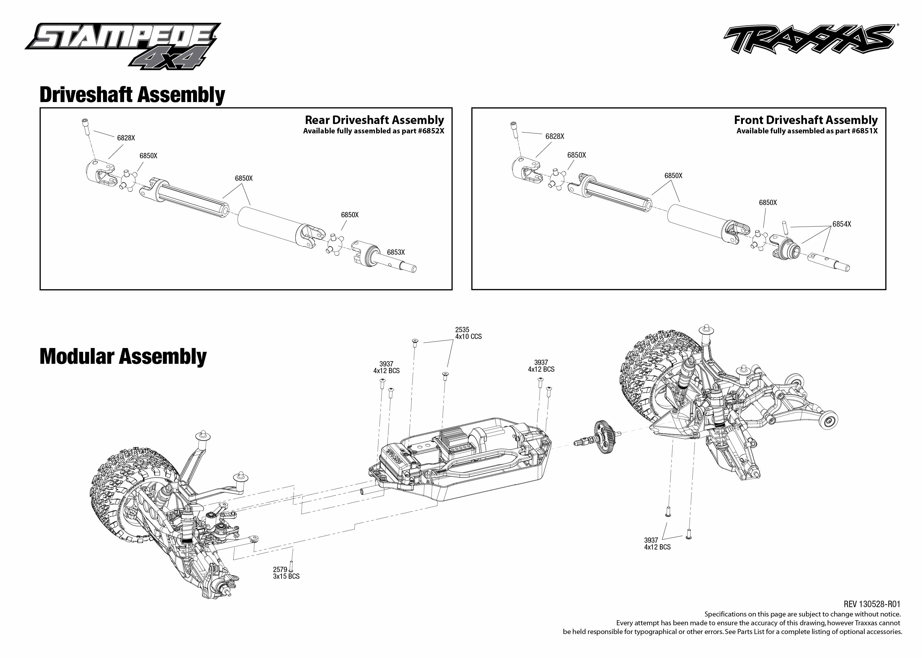 Traxxas Stampede Vxl Diagram Engine Control Wiring Gearing Chart Slash Speed 6708 Driveshaft Exploded View Rh Com