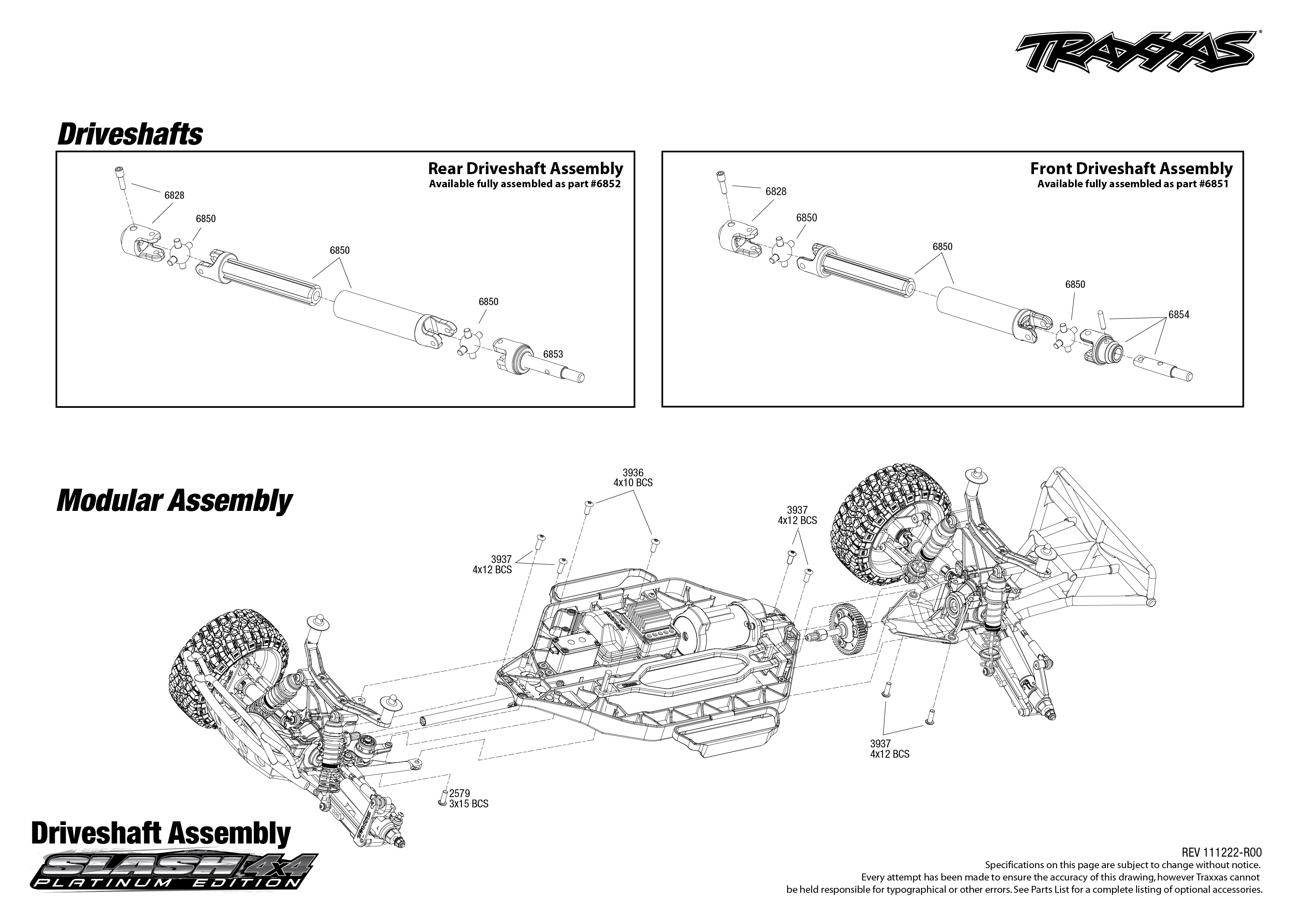 6804 driveshafts exploded view slash 4x4 platinum traxxas rh traxxas com traxxas skully parts diagram traxxas stampede parts diagram
