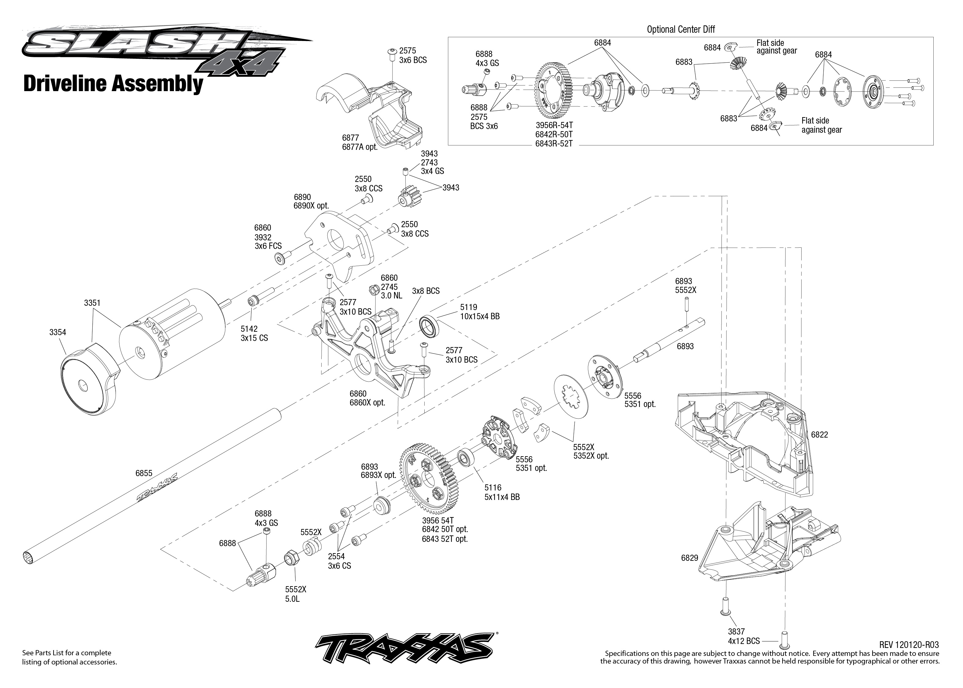 6808 driveline exploded view slash 4x4 2009 traxxas view pdf pooptronica Images