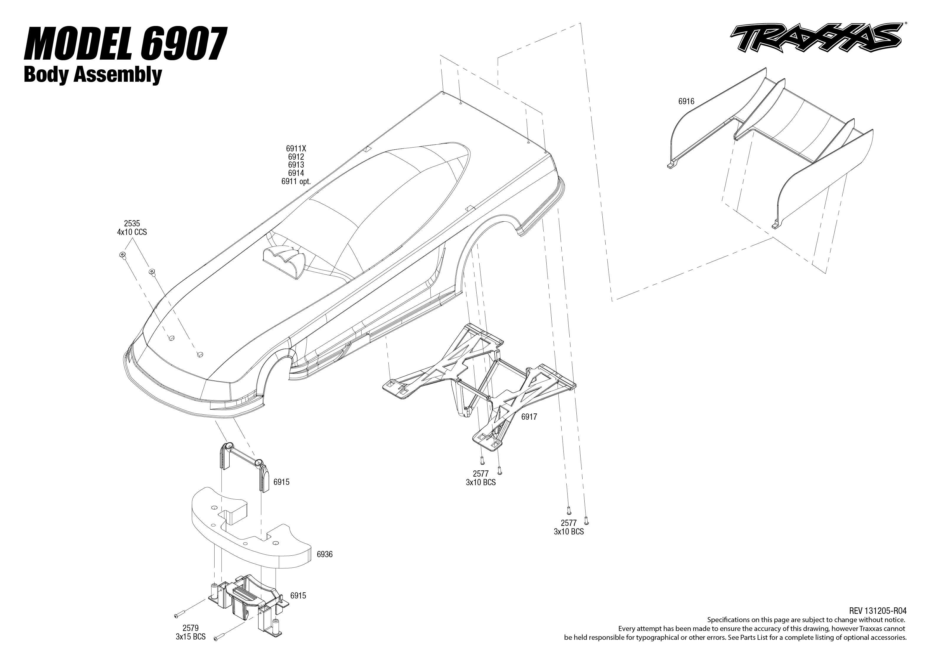 6907 body exploded view funny car traxxas view pdf pooptronica Images
