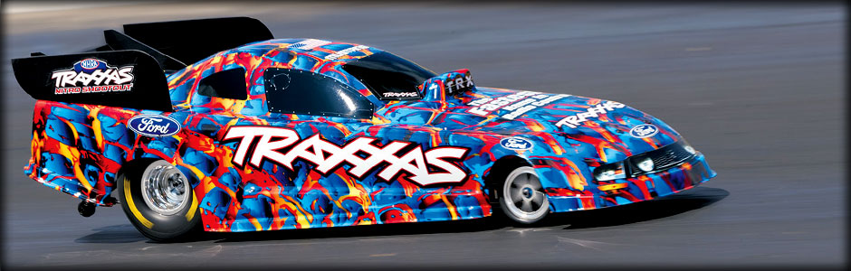 Funny Car: 1/8-Scale Funny Car Dragster with TQi 2.4GHz radio system & Traxxas Stability Management (TSM) | Traxxas