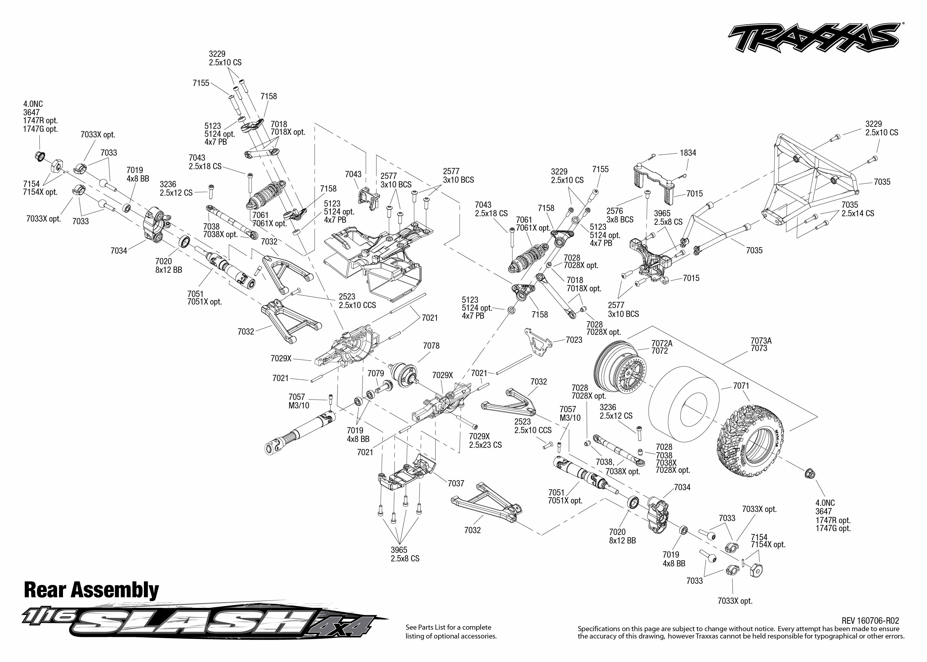Traxxas Rustler Vxl Parts Diagram Pdf Guide And Troubleshooting Of 1 16 Slash 4x4 70054 Rear Assembly List Stampede