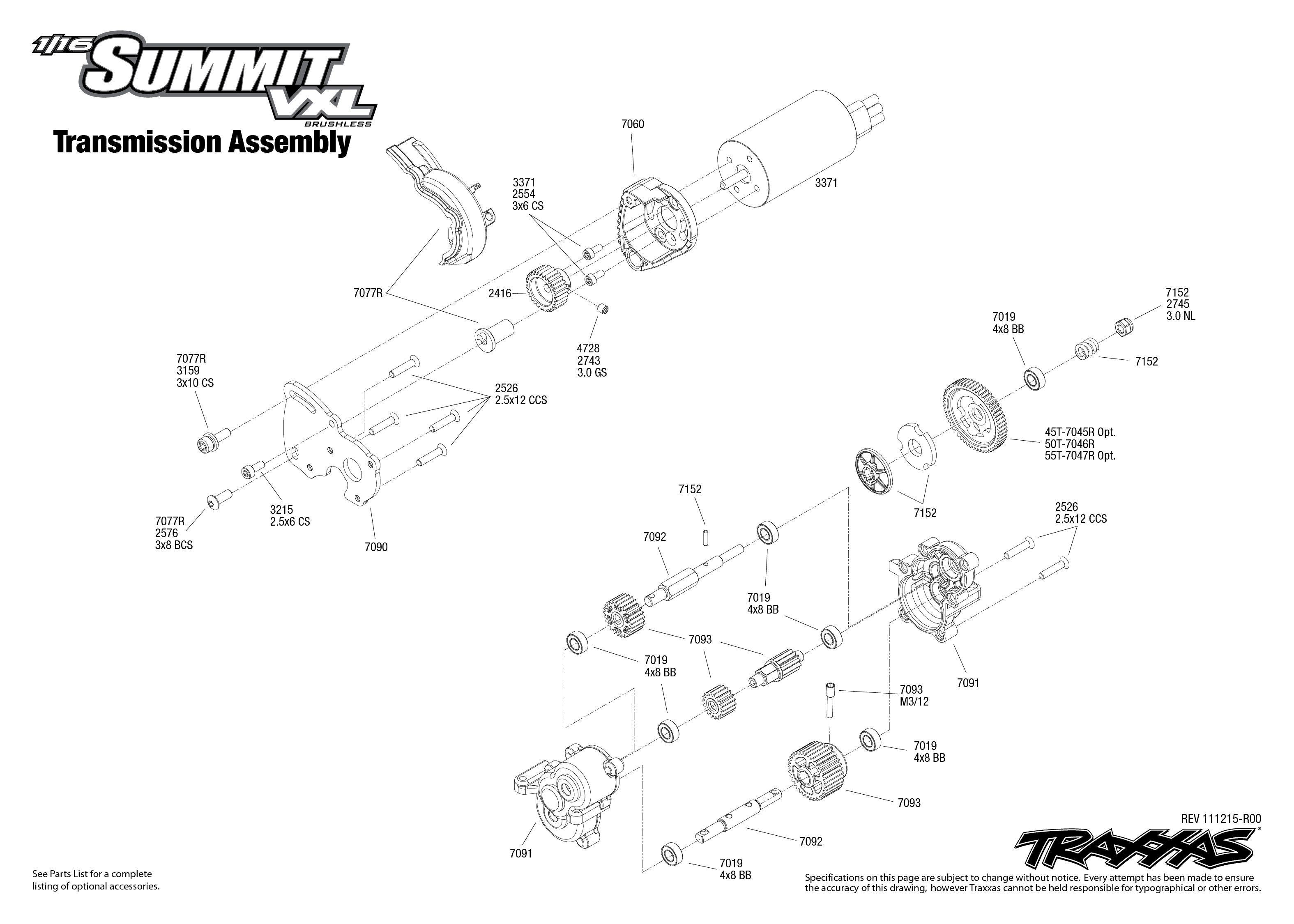 7207 Transmission Exploded View  1  16 Summit  With Tqi 2