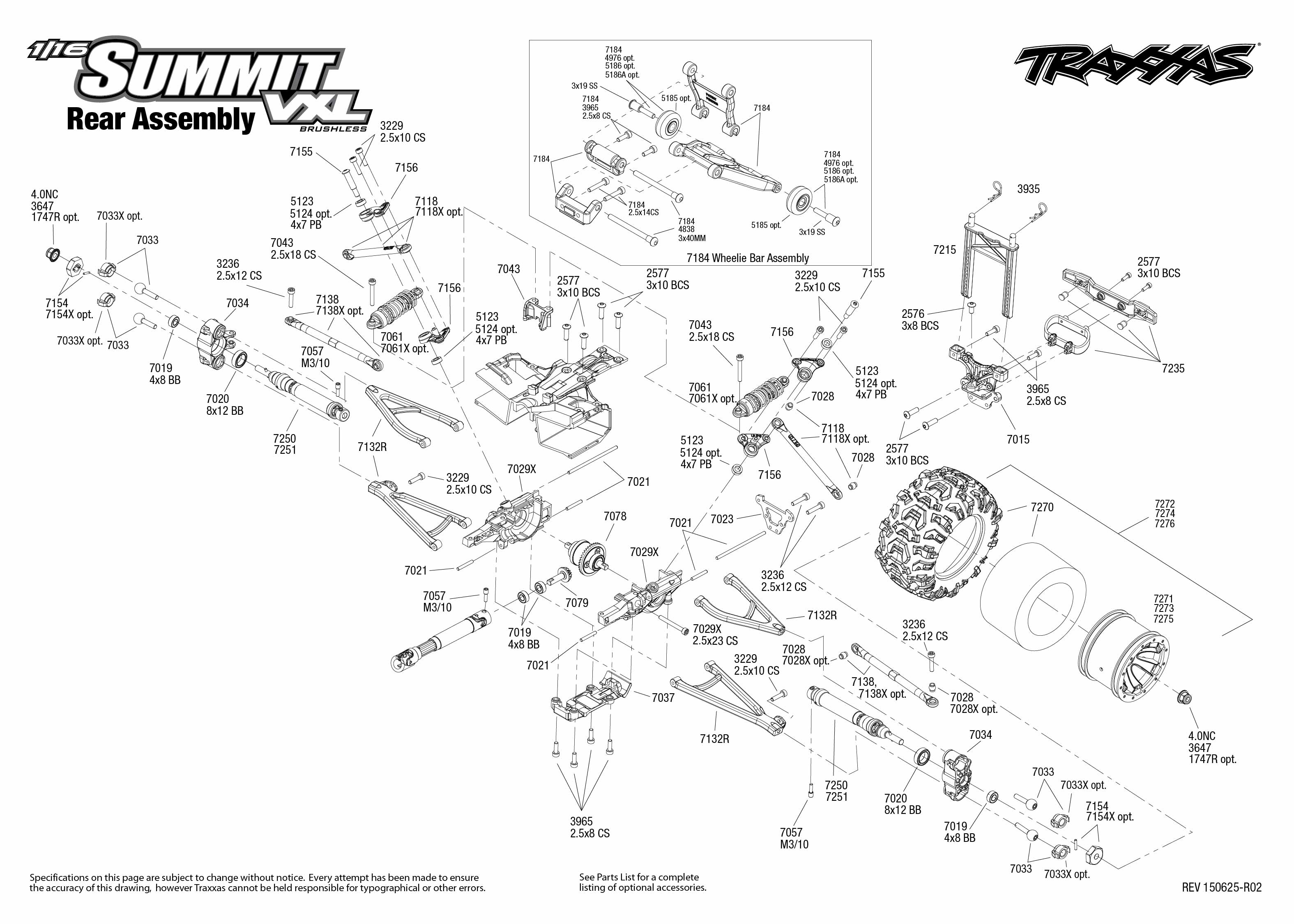Traxxas Slash Wiring Diagram Library Nitro Rustler Parts 11wd Circuit And 1 16 Summit Vxl 72074 Rear Assembly Exploded View Rh Com