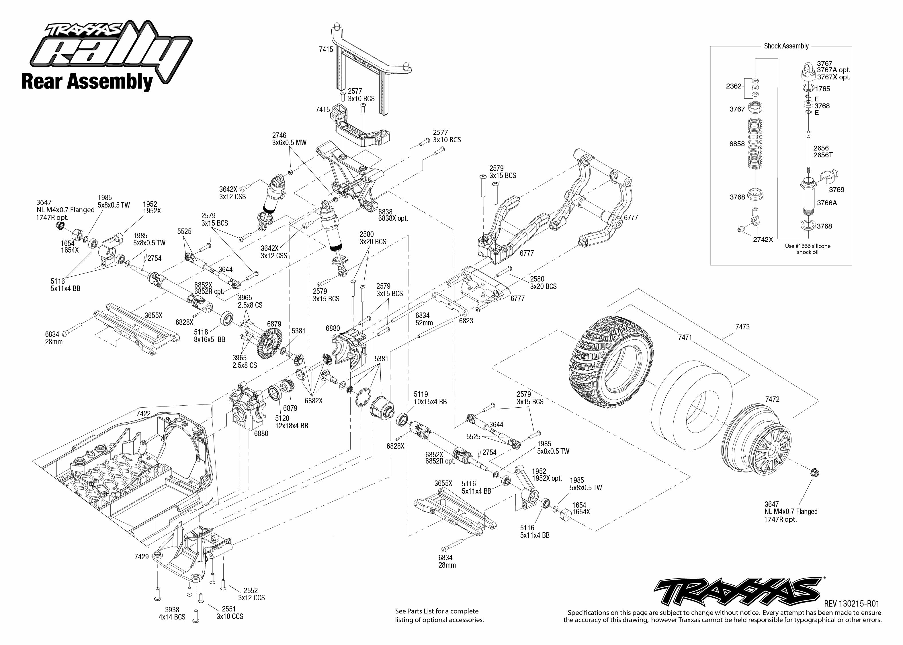 7407 rear exploded view  rally