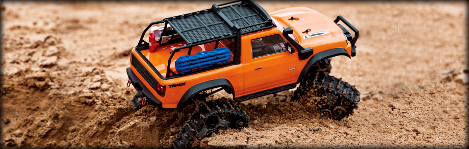 TRX-4 Equipped with TRAXX (#82034-4) (Blue & Orange)