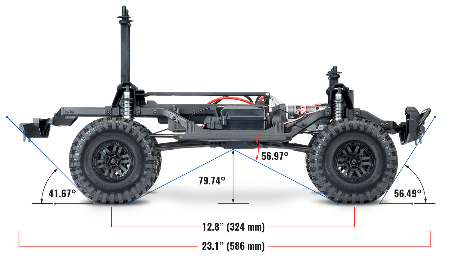 Traxxas TRX-4 1/10 Scale And Trail Crawler - Page 6 82056-4-Side-Chassis-Dimensions