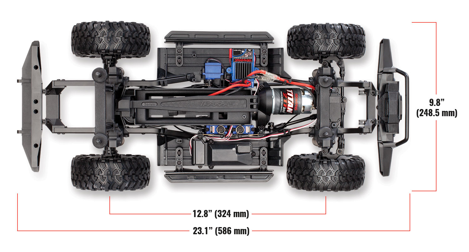 Traxxas TRX-4 1/10 Scale And Trail Crawler - Page 6 82056-4-Top-Chassis-Dimensions