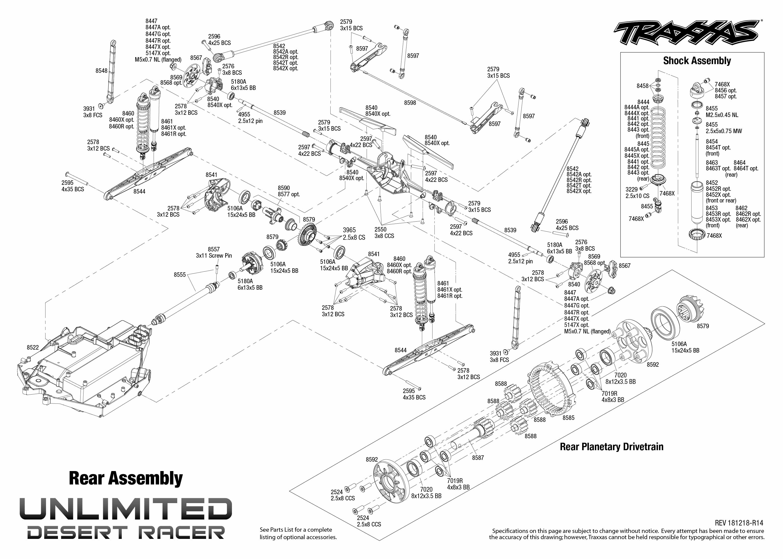 Traxxas Udr 85076-4_TQi_explodedviews_181218_85076-4%20Rear%20Assembly