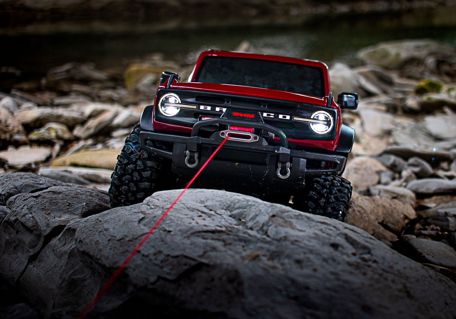 TRX-4 2021 Bronco with installed winch