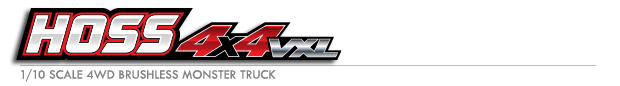 Hoss™ 4X4 VXL: 1/10 Scale Monster Truck with TQi Traxxas Link™ Enabled 2.4GHz Radio System & Traxxas Stability Management (TSM)® Logo