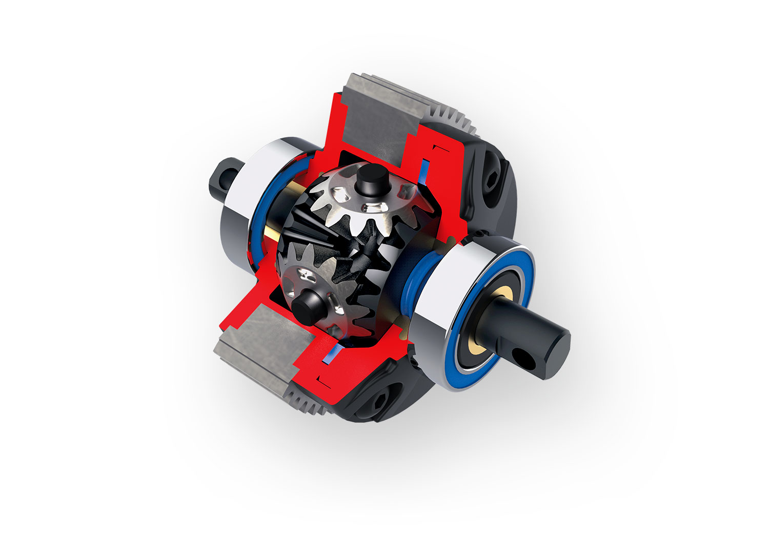 Sealed Beveled-Gear Differential