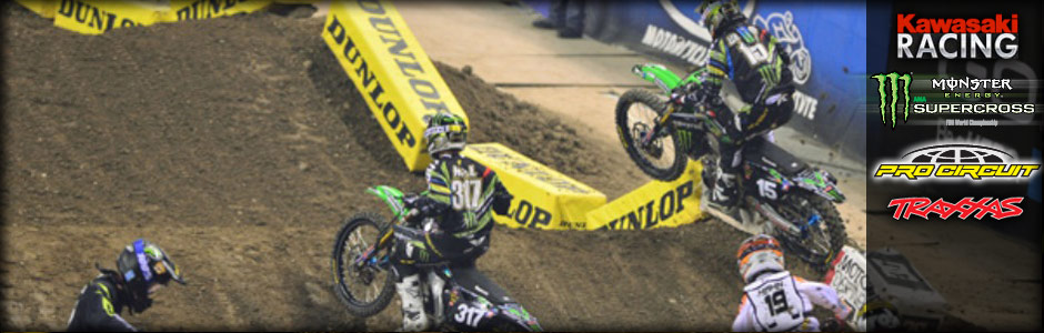 Traxxas rider Hill is 5th while Wilson crashes out at Indy Supercross