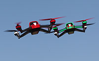 Red and Green Traxxas Aton Quadcopters