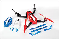 Red Aton Quadcopter with Accessories