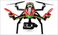 Red and Green Traxxas Aton Quadcopter