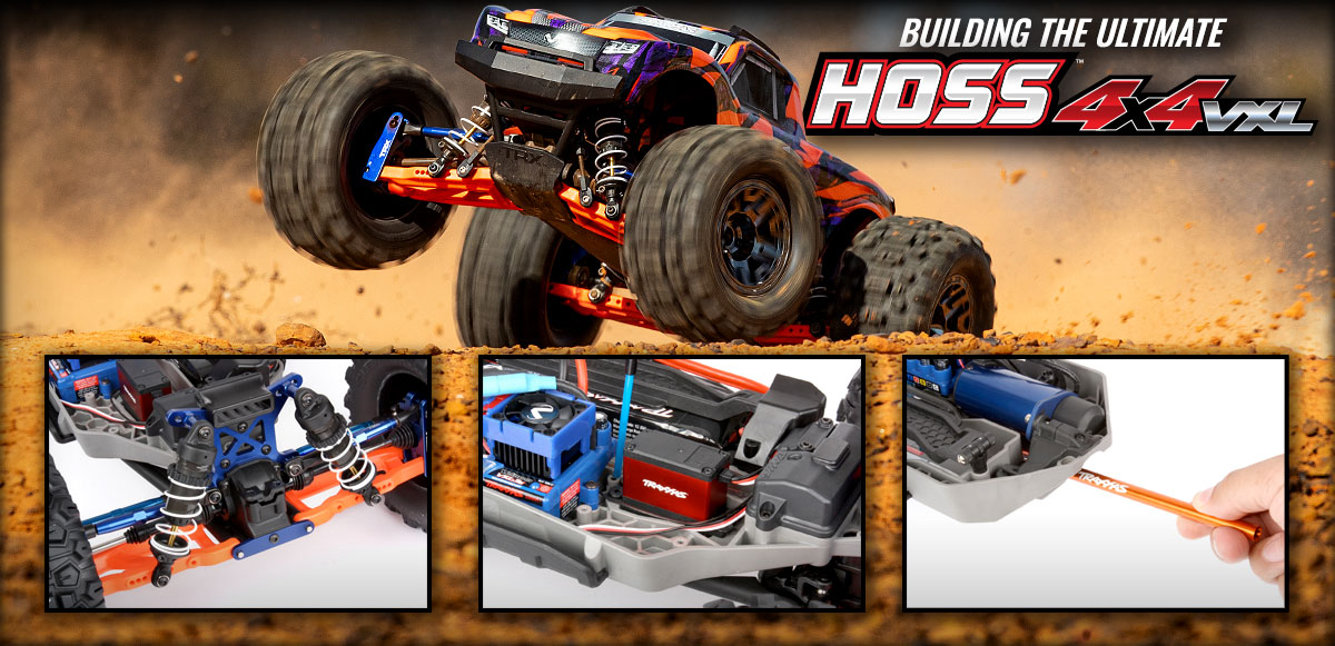 We build the Ultimate Hoss 4X4 VXL with Genuine Traxxas Accessories!