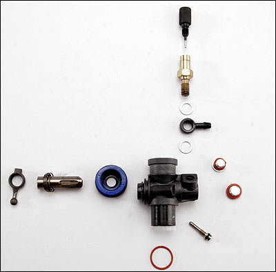 once the carburetor is completely disassembled, inspect the components once  again for any damage  inspect the carburetor body for stripped threads,