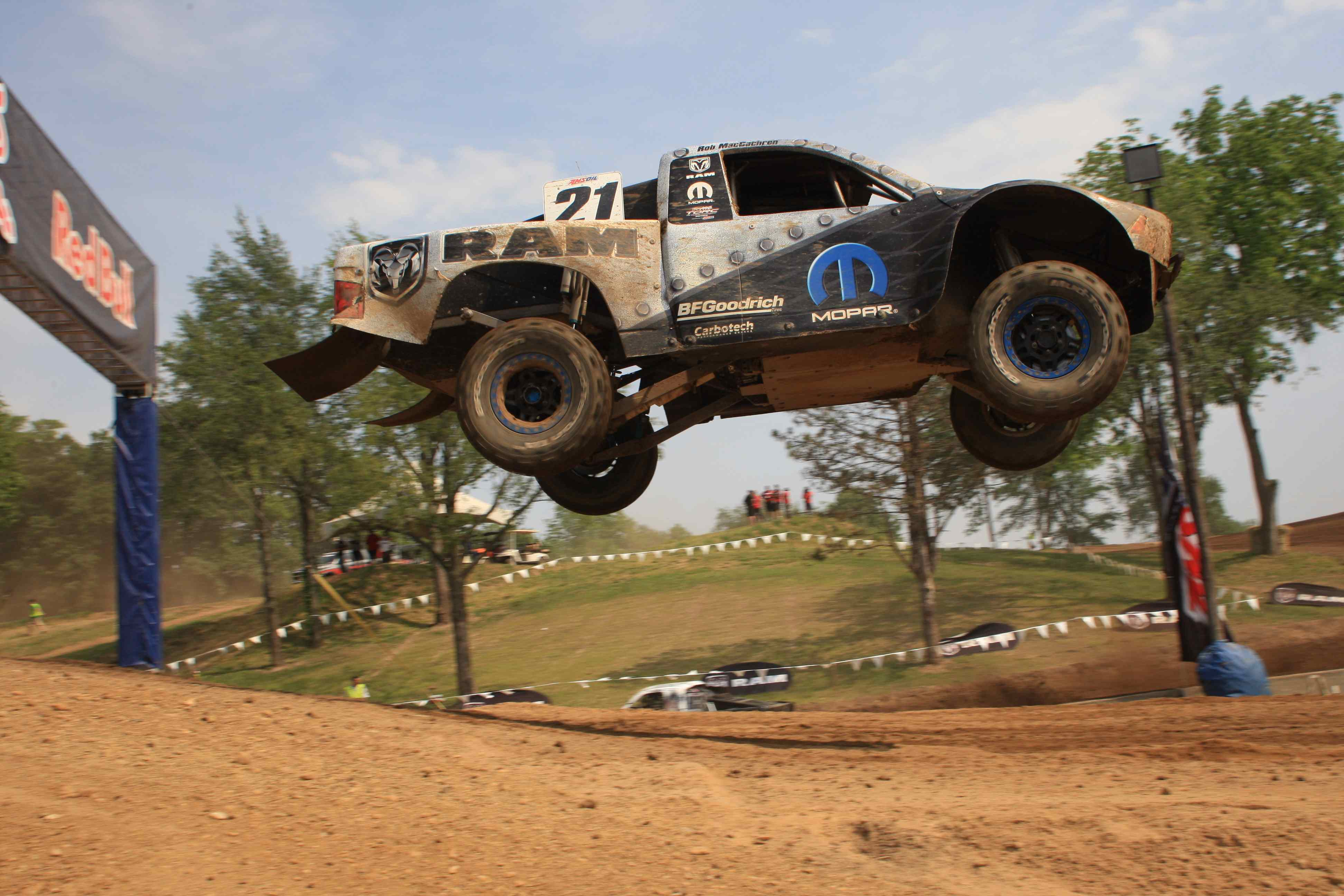 Traxxas drivers made up nearly a third of the field with three 900hp race trucks looking for