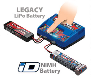 Connected to Legacy and iD Batteries