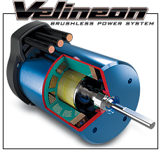 Velineon 3500 Brushless Motor (#3351R) Cut-Away View (right)