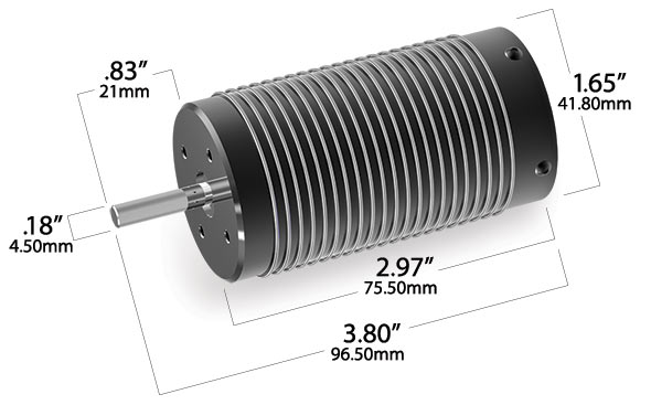 Motor, 2200Kv 75mm, brushless (with 6 5mm gold-plated