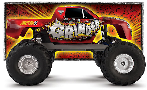 Traxxas Monster Jam Advance Auto Parts Grinder 1/10 Scale 2WD Monster Truck  RTR w/Waterproof ESC #3602 (Discountined)
