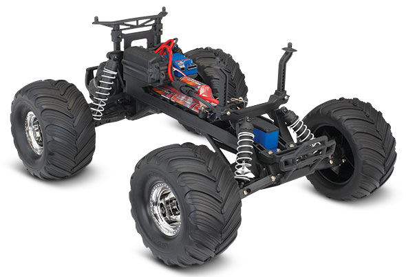 BIGFOOT No. 1 (#36034-1) Chassis Three-Quarter View